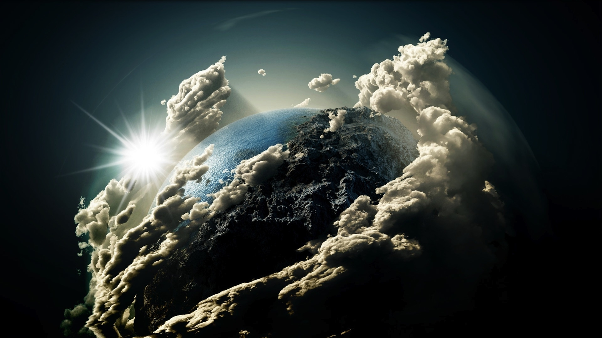 Fantasy earth clouds free hd wallpapers media file pixelstalk view image larger and download voltagebd Images