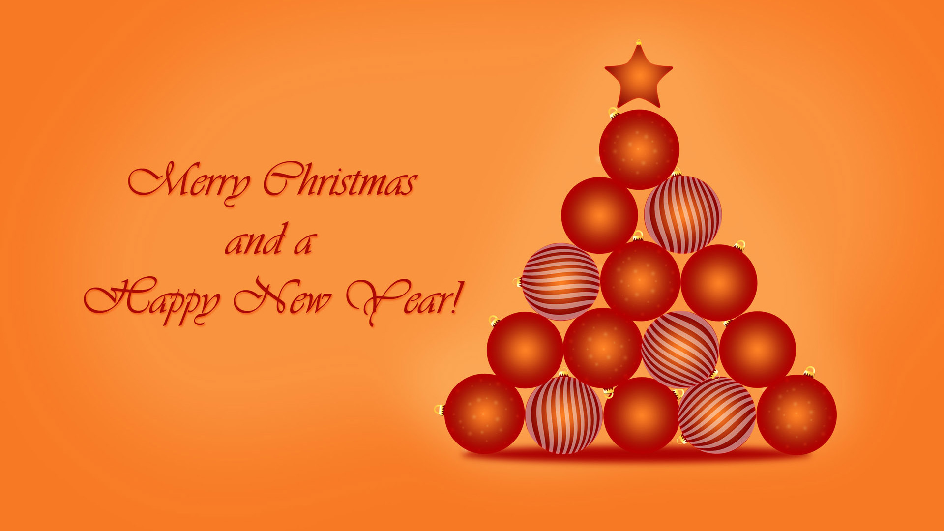 merry christmas and happy new year wallpaper free download