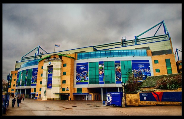 The new Stamford Bridge West Stand exterior
