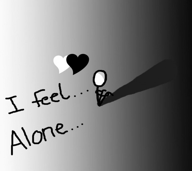 Alone Quotes HD Wallpaper.