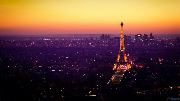 Paris eiffel tower at night wallpaper 1080p
