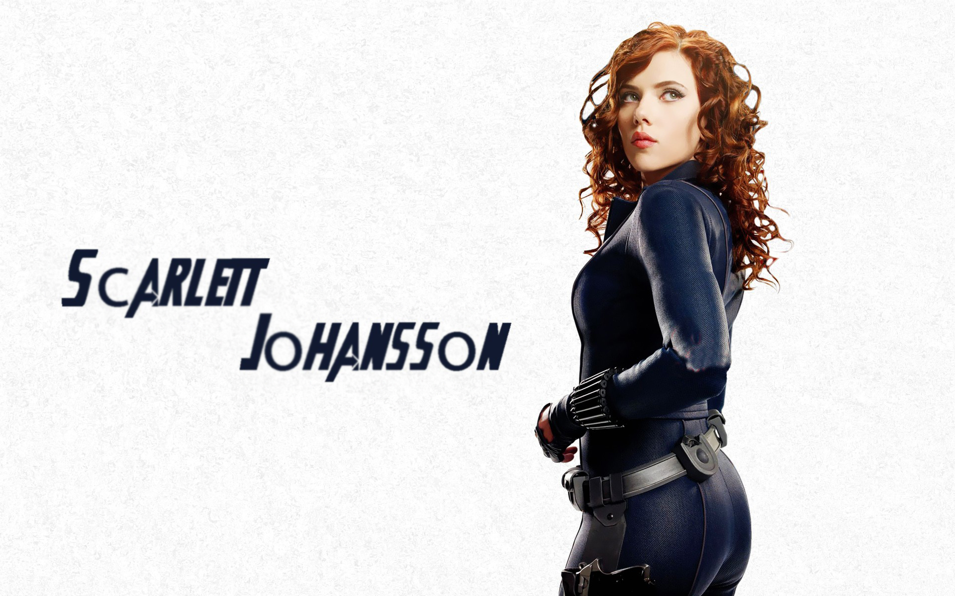 Scarlett Johansson HD Wallpaper in black
