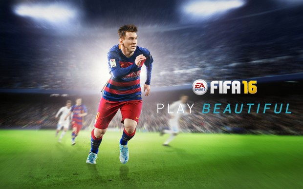 FIFA 16 Game Poster Lionel Messi Play Beautiful Wallpapers