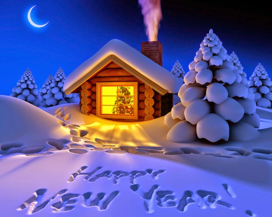happy new year 2016 snow fall night hd wallpaper