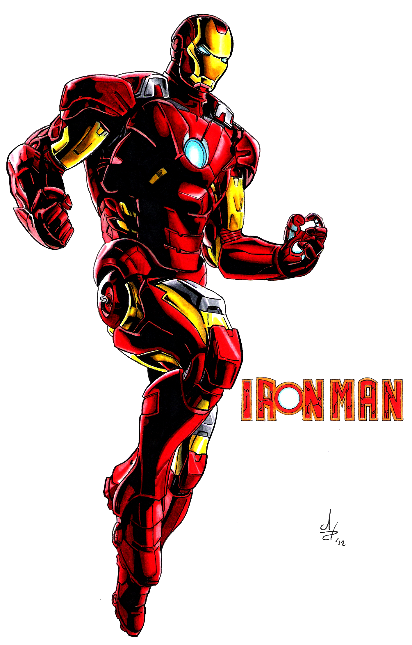 Iron Man Avengers Colore By Tommasoamato93