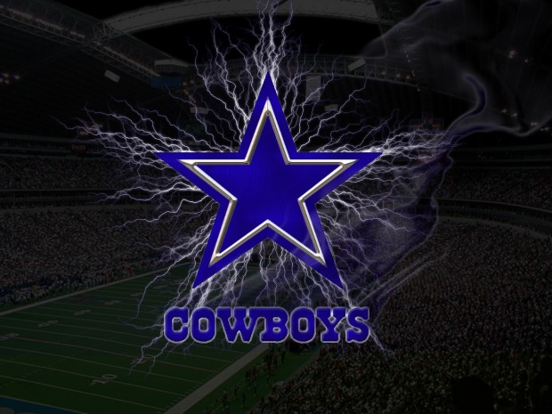 Lighting Dallas Cowboys Logo Wallpaper.