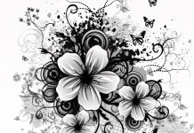 black and white flower wallpaper dowload free.