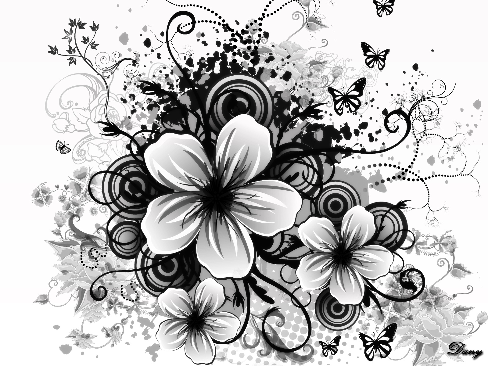 Black and white flowers wallpapers hd pixelstalk black and white flower wallpaper dowload free mightylinksfo