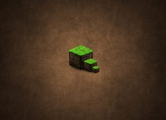 minecraft background cube