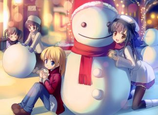 Anime Winter Wallpapers HD download free.