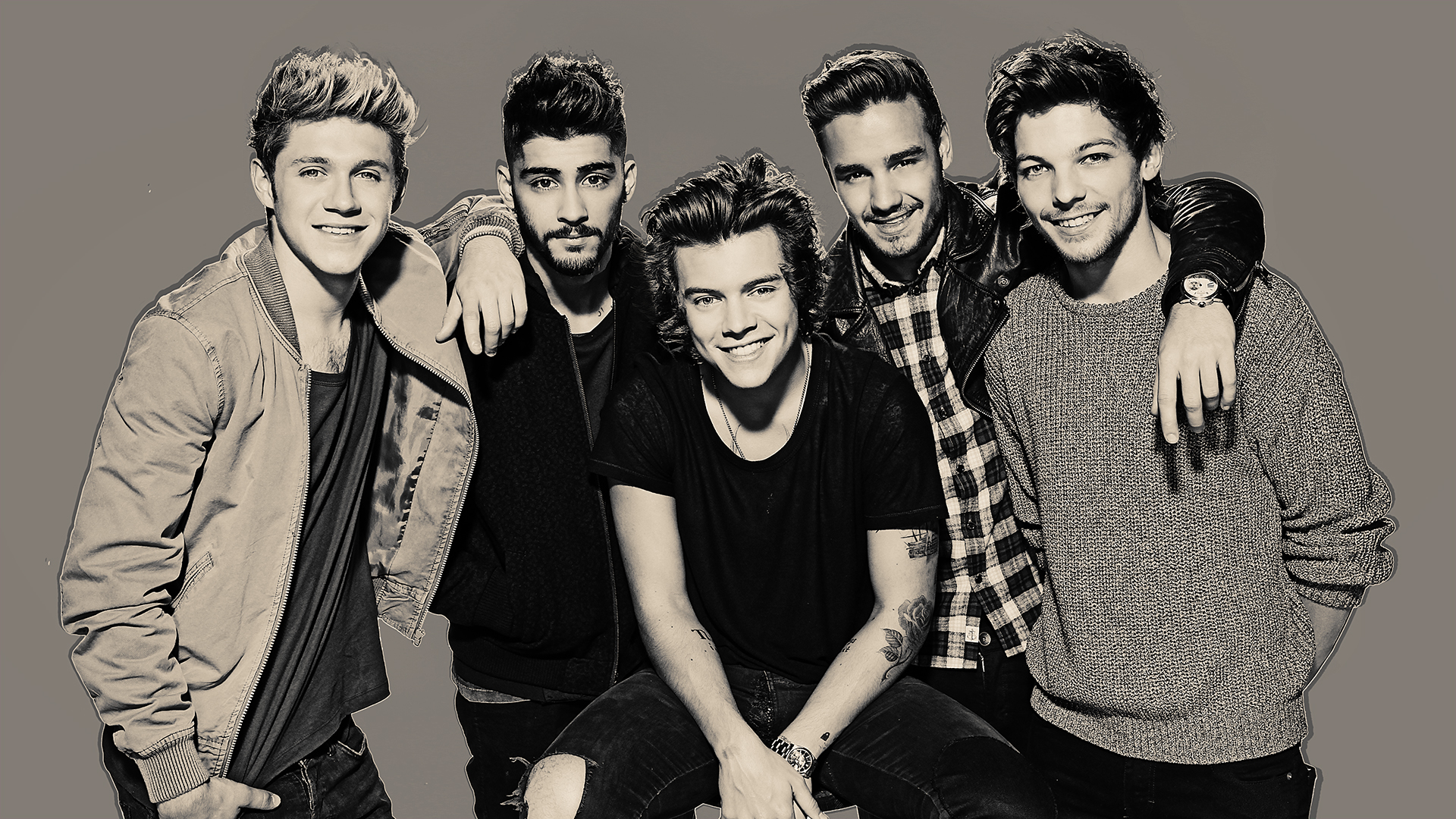 Black and white One Direction Wallpapers HD.