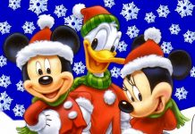 Mickey Mouse Christmas Image.