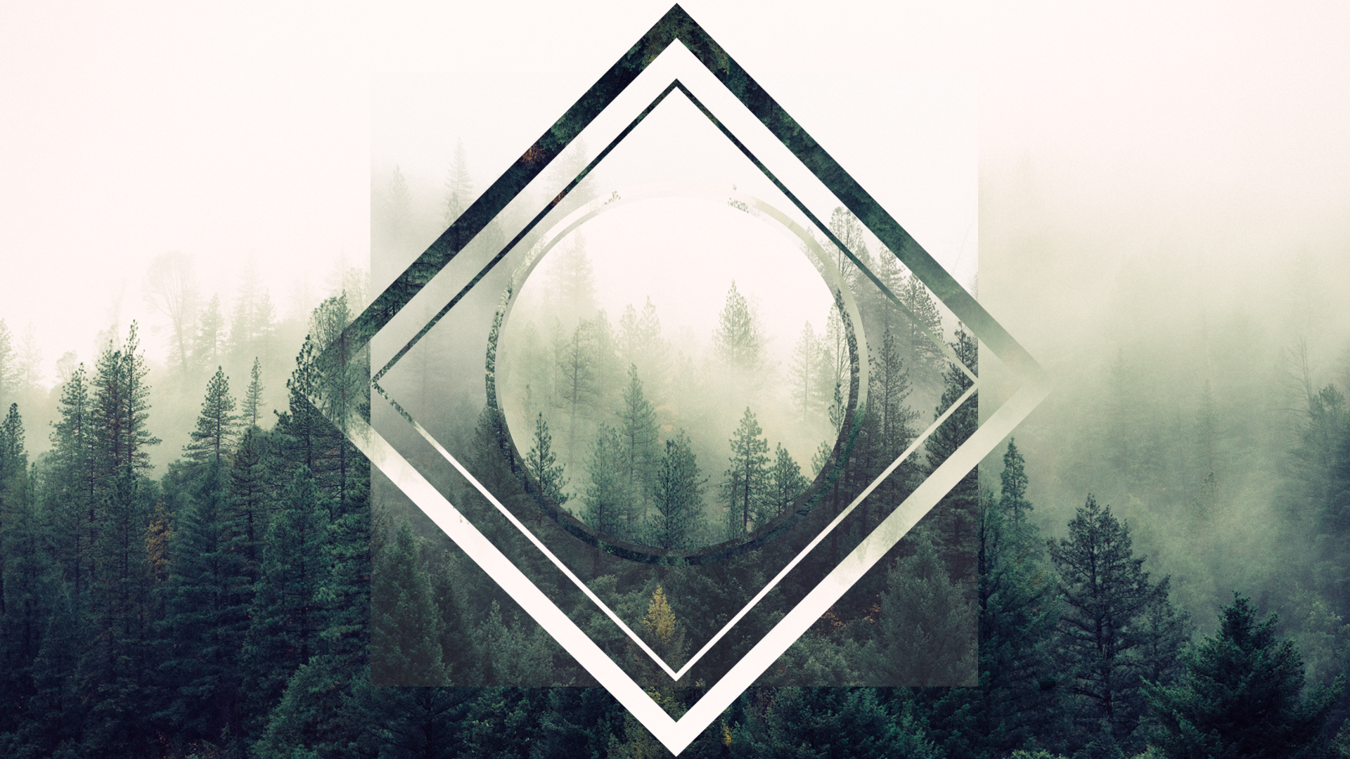 Hipster Wallpaper Concept Trees.