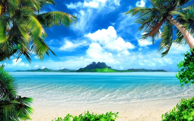 Beautiful nature wallpaper of beach.