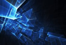 Blue Squares Abstract Wallpaper.