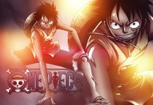 HD One piece wallpaper color.