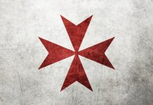 Religious maltese cross background.
