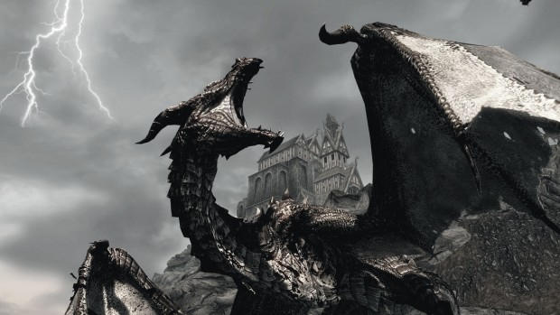 Skyrim hd wallpaper dragon.