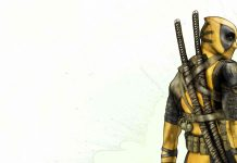 Yellow Deadpool HD Wallpaper.