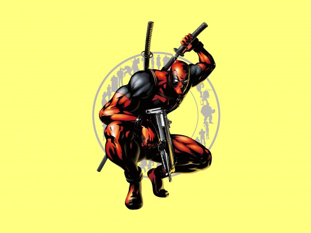 Yellow Deadpool backgrounds free download.