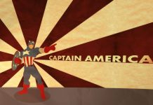 Captain America Classic Retro Backgrounds Wallpaper HD.