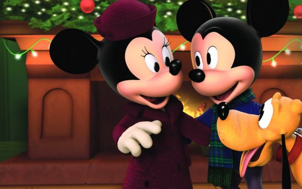 Christmas mouse wallpapers mickey minnie background.