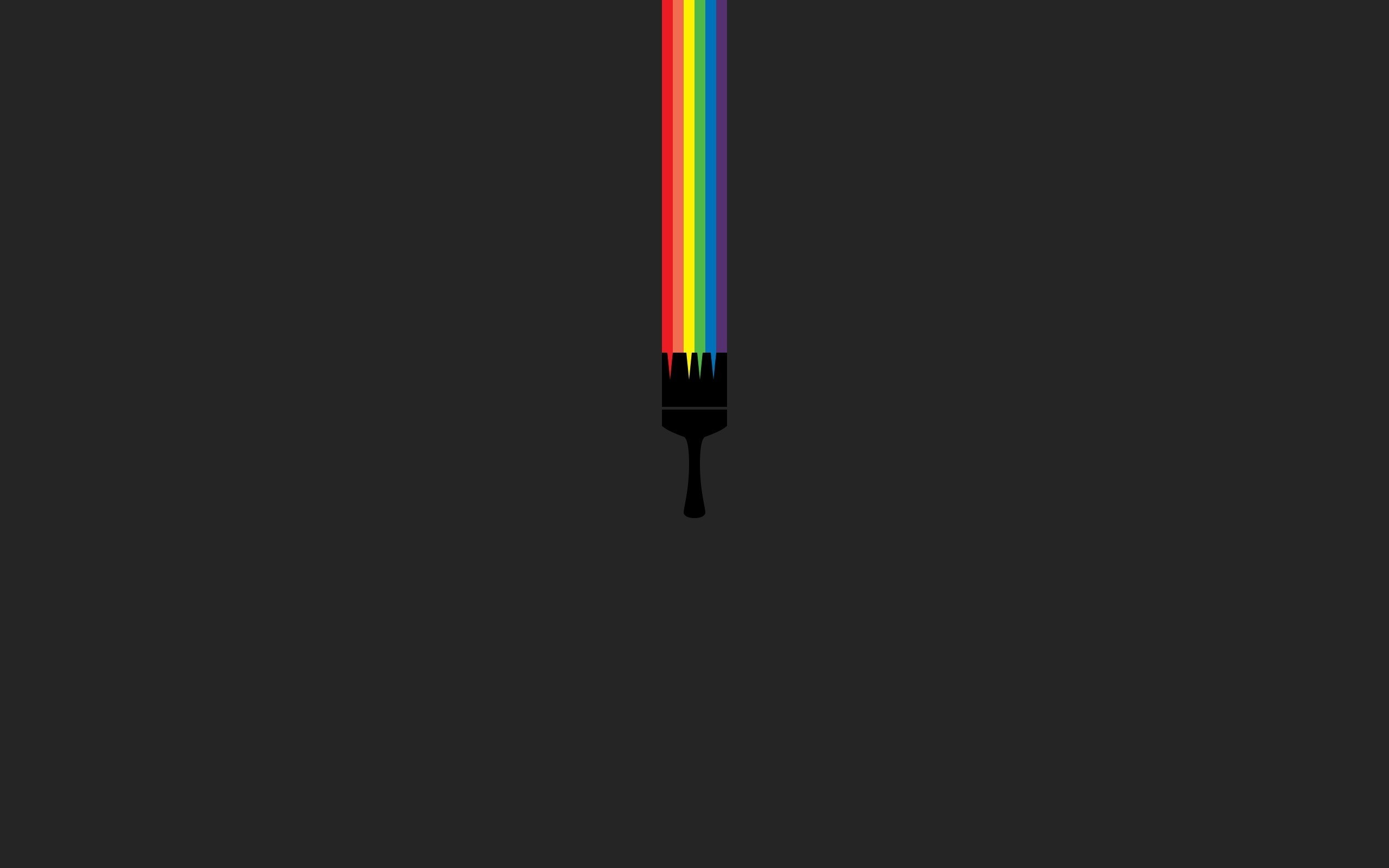 dark minimalist wallpapers raibow paint