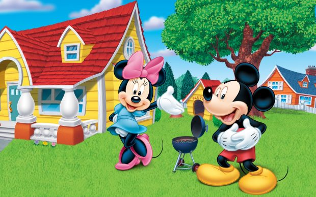 Disney cartoon mickey and minnie mouse wallpaper HD.