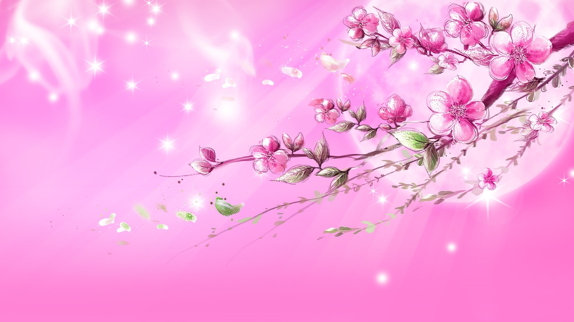 Flowers dream in pink wallpapers HD.