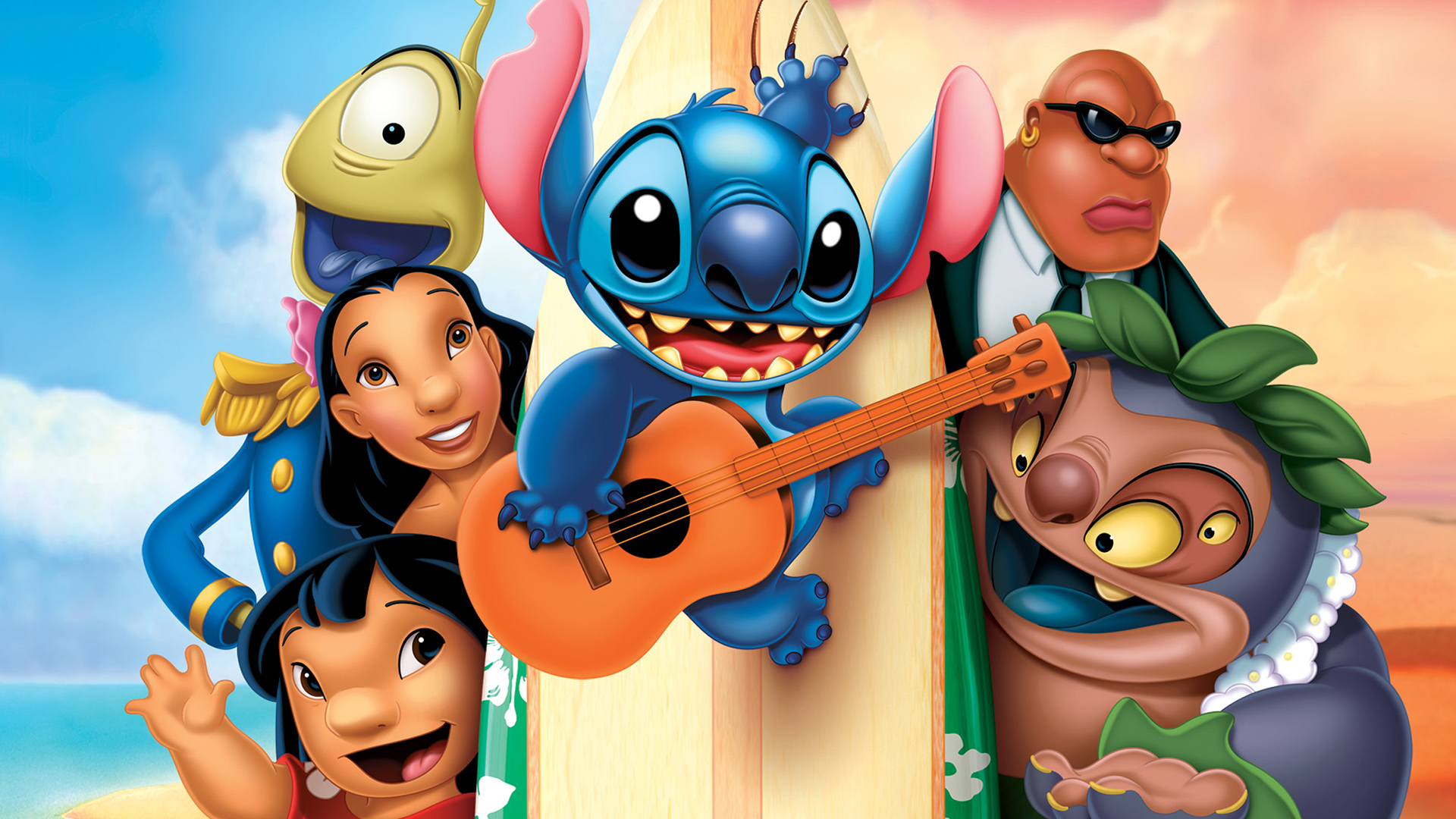 It's just a graphic of Adorable Lilo & Stitch Images