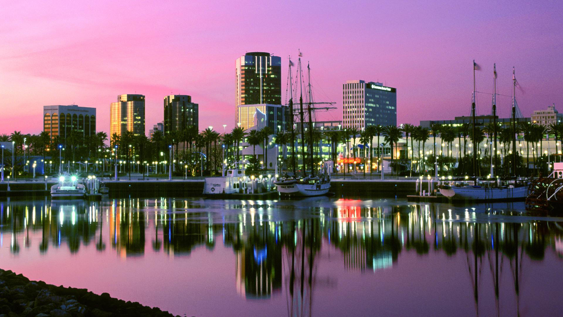 Long beach california harbor HD wallpaper.