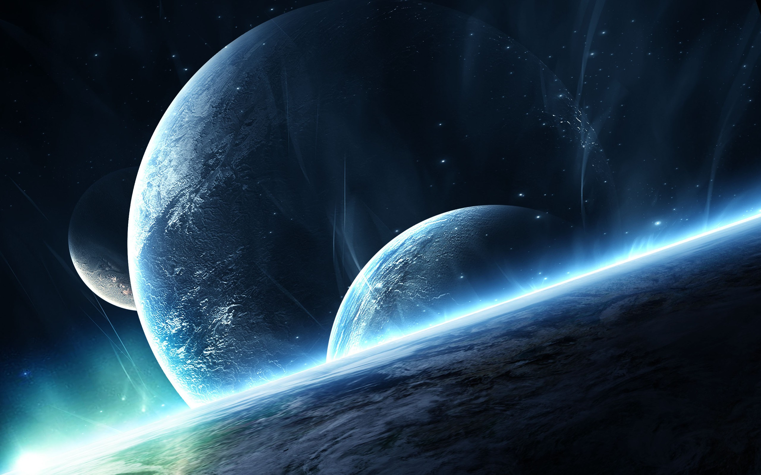 3D space scene HD wallpapers.