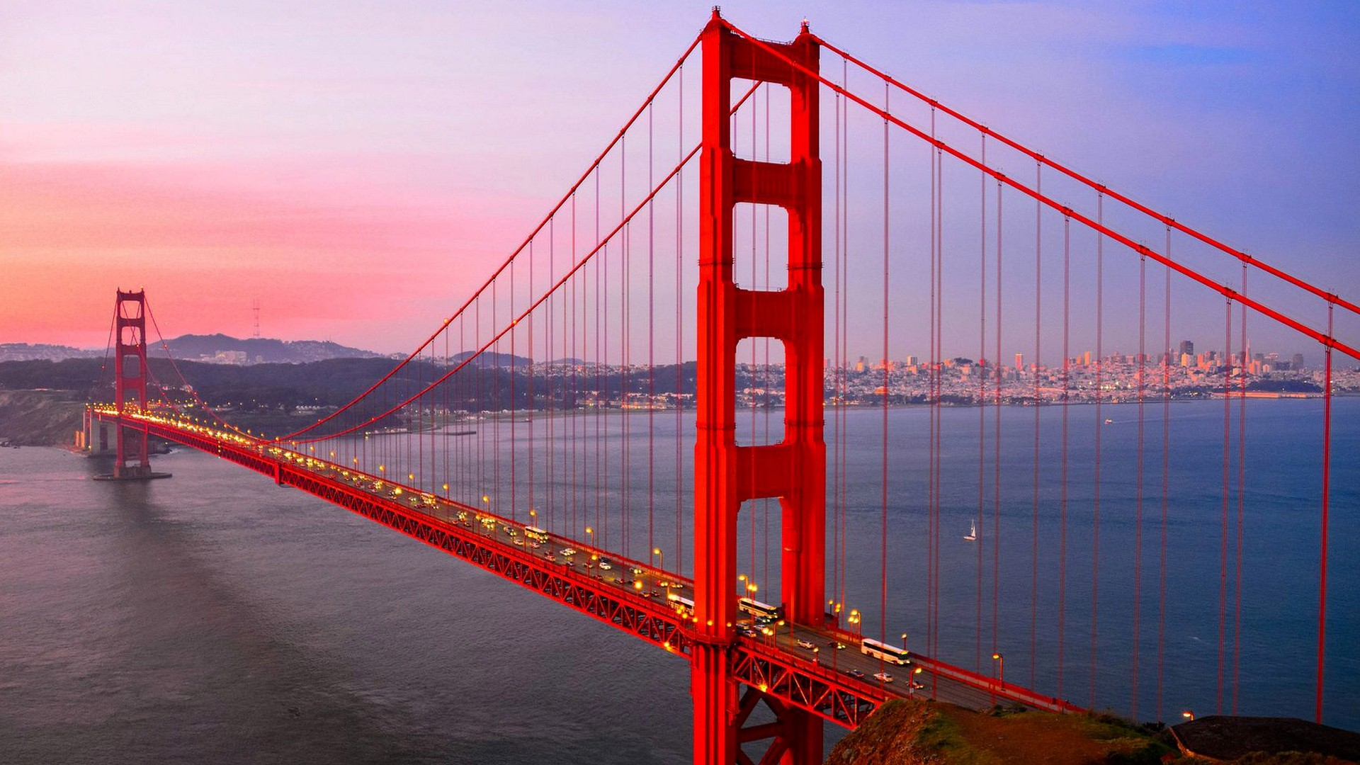 Popular Golden Gate Bridge in San Francisco California HD Wallpaper.