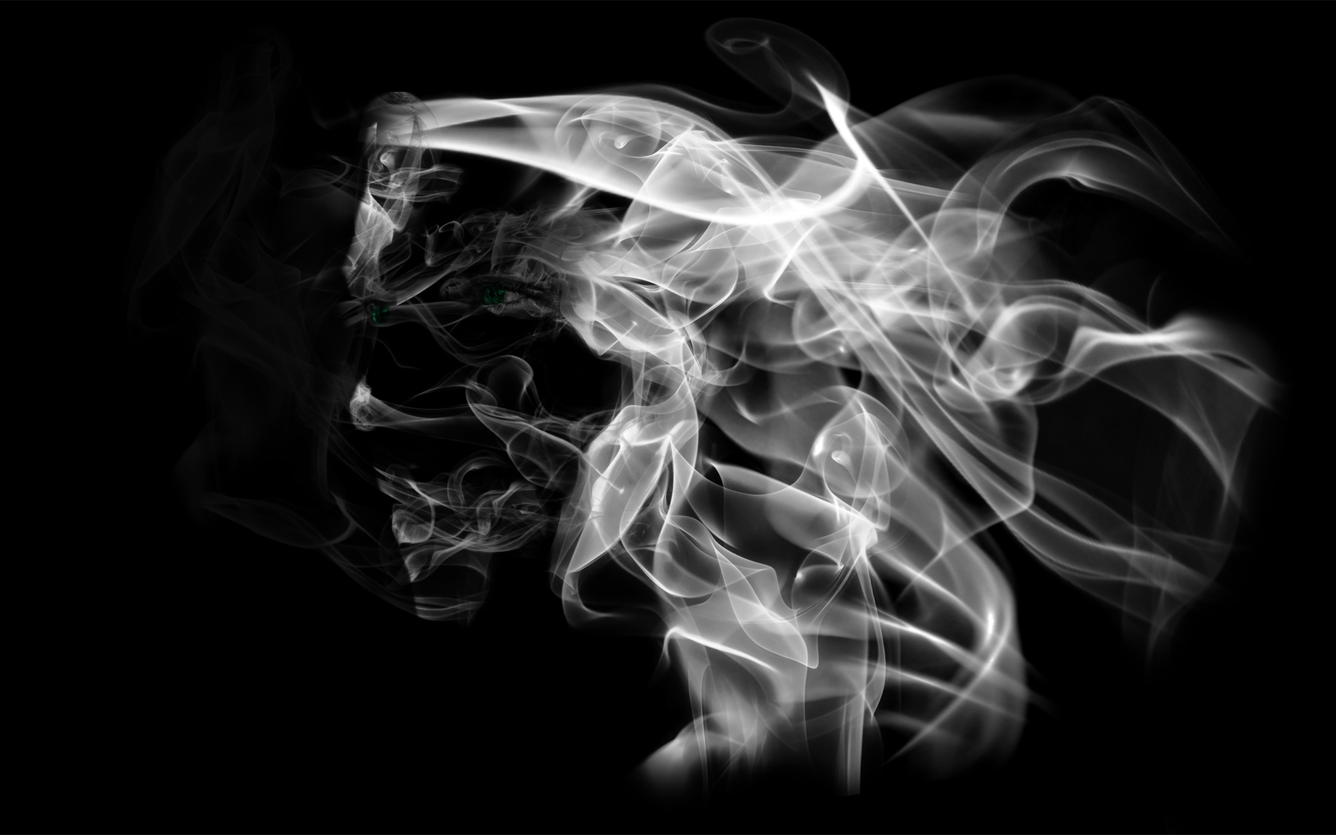 White Smoke Abstract Wallpaper HD