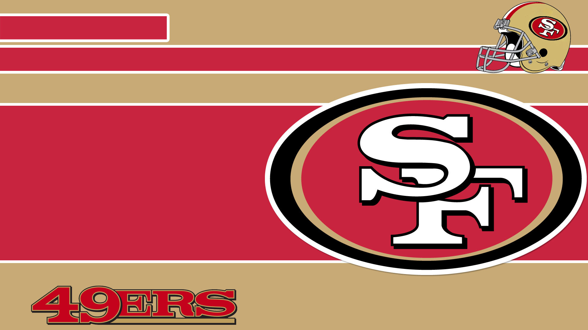 Free san francisco 49ers logo backgrounds download pixelstalk 49ers logo poster wallpaper voltagebd