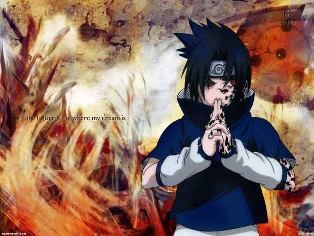 Abstract Of Sasuke Desktop Wallpaper.