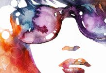 Beautiful art girl watercolor wallpapers hd.