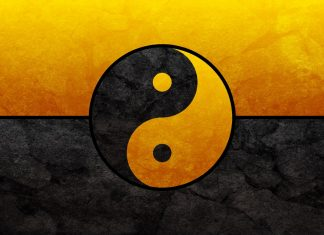 Black and Gold Yin Yang 1080p backgrounds.