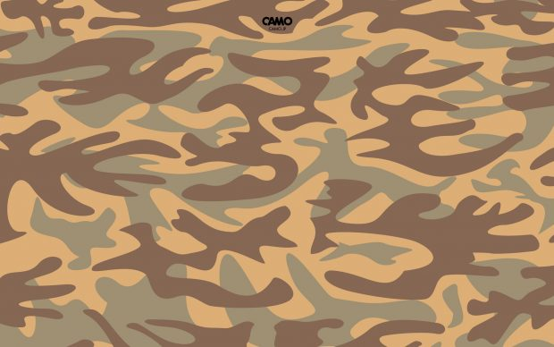 Brown Camo Background Wallpaper.