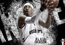 NBA basketball allen iverson wallpaper HD.