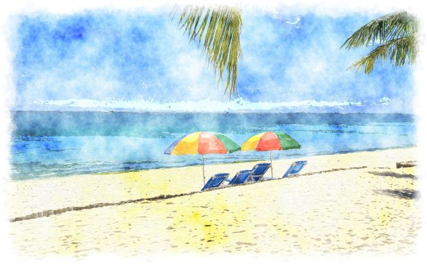 Tropical watercolor backgrounds.