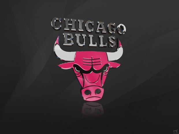 Chicago Bulls 3D Logo Wallpaper.