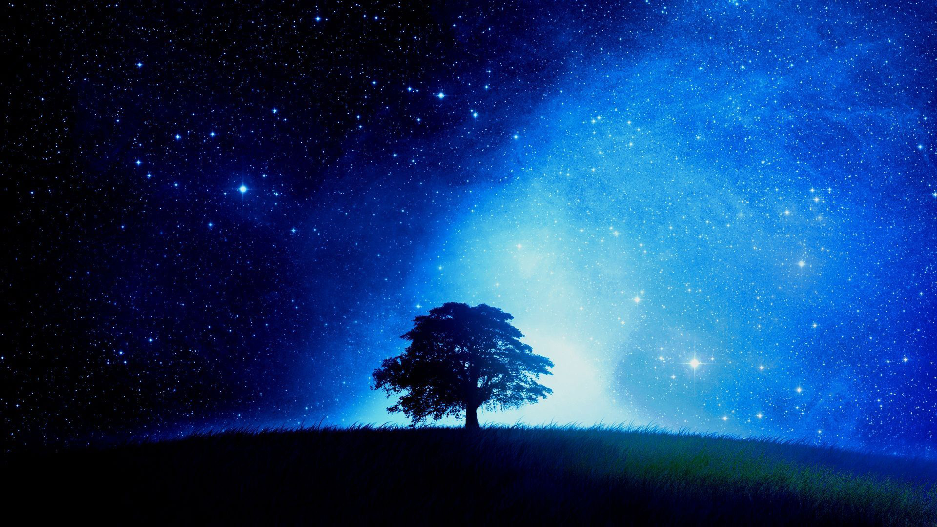 Free Desktop Starry Night Wallpaper Pixelstalk Net