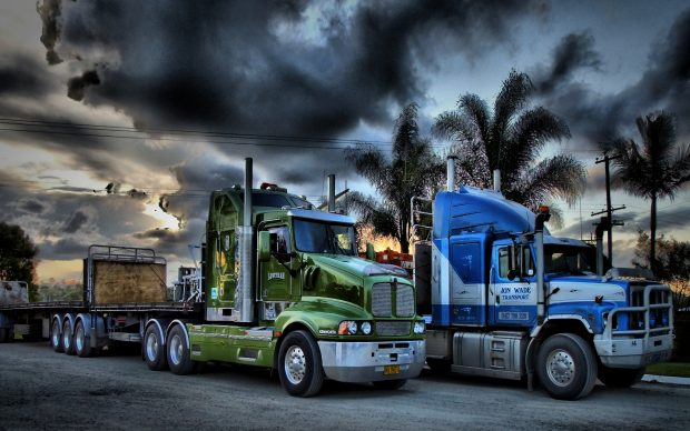 HD Semi Truck Wallpaper.
