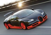 Orange Bugatti Wallpaper For Desktop.