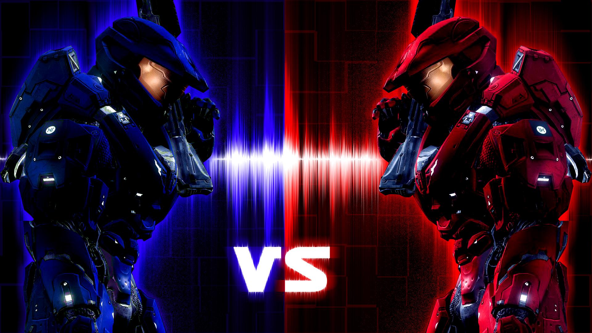 Red vs Blue Desktop Wallpapers | PixelsTalk.Net