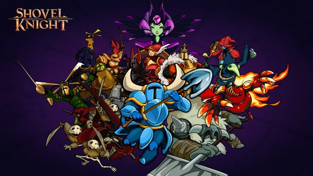 Shovel knight video game wallpaper.
