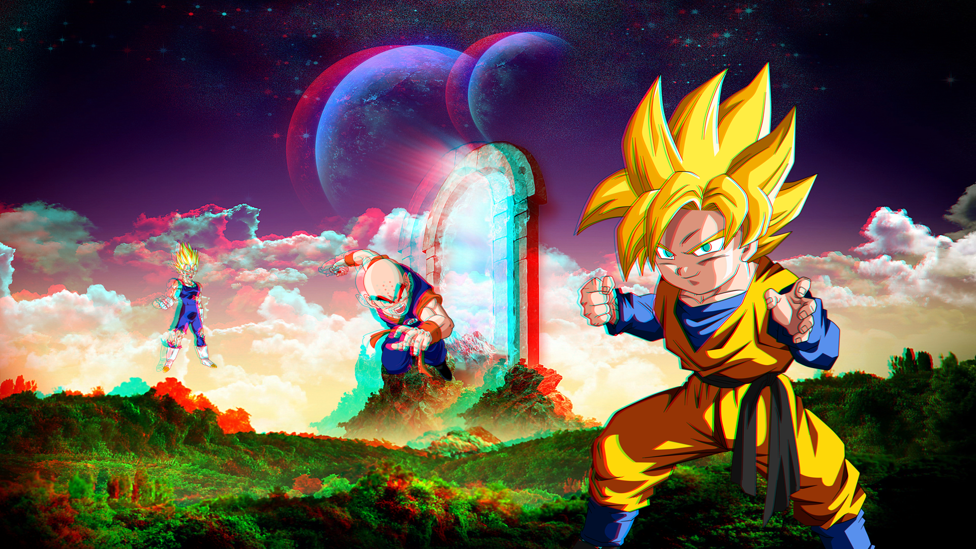 1080p 3d wallpapers hd pixelstalk net - 3d wallpaper of dragon ball z ...