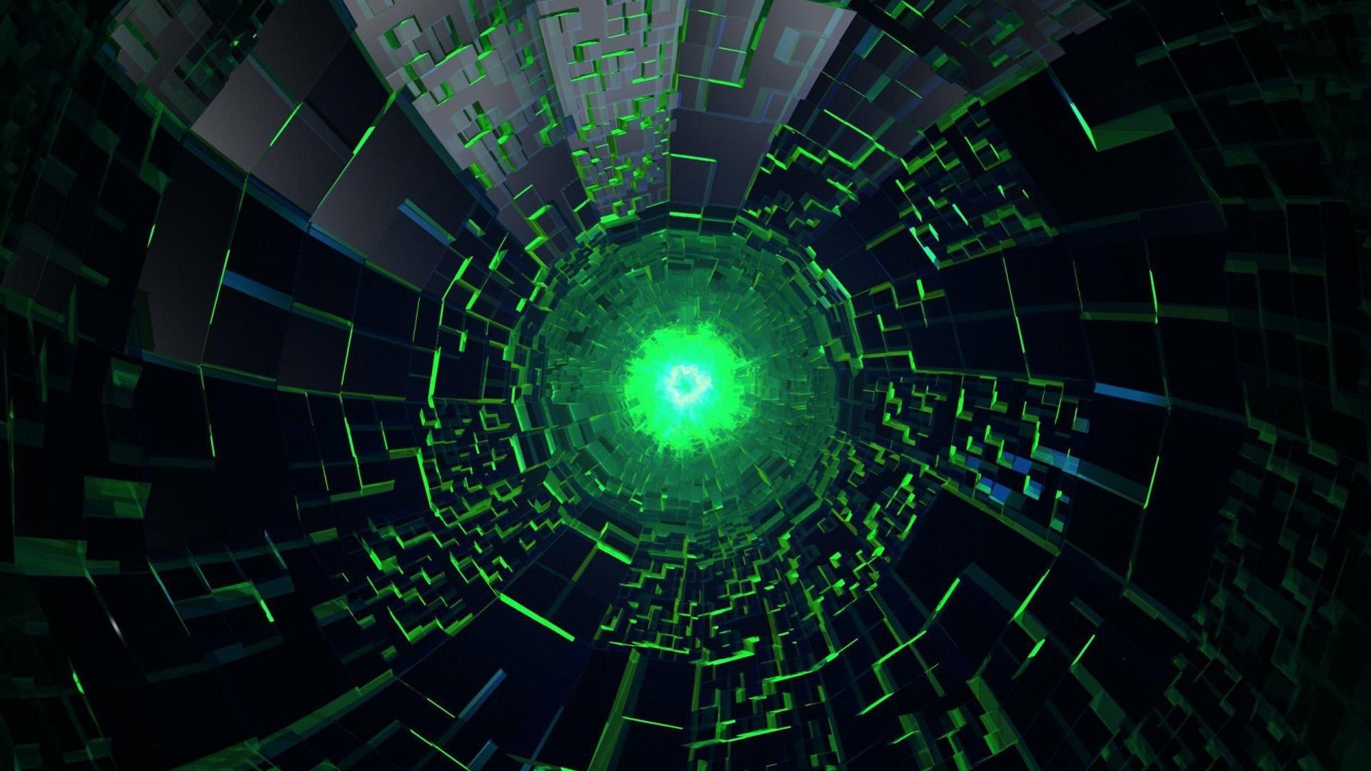 green neon desktop images