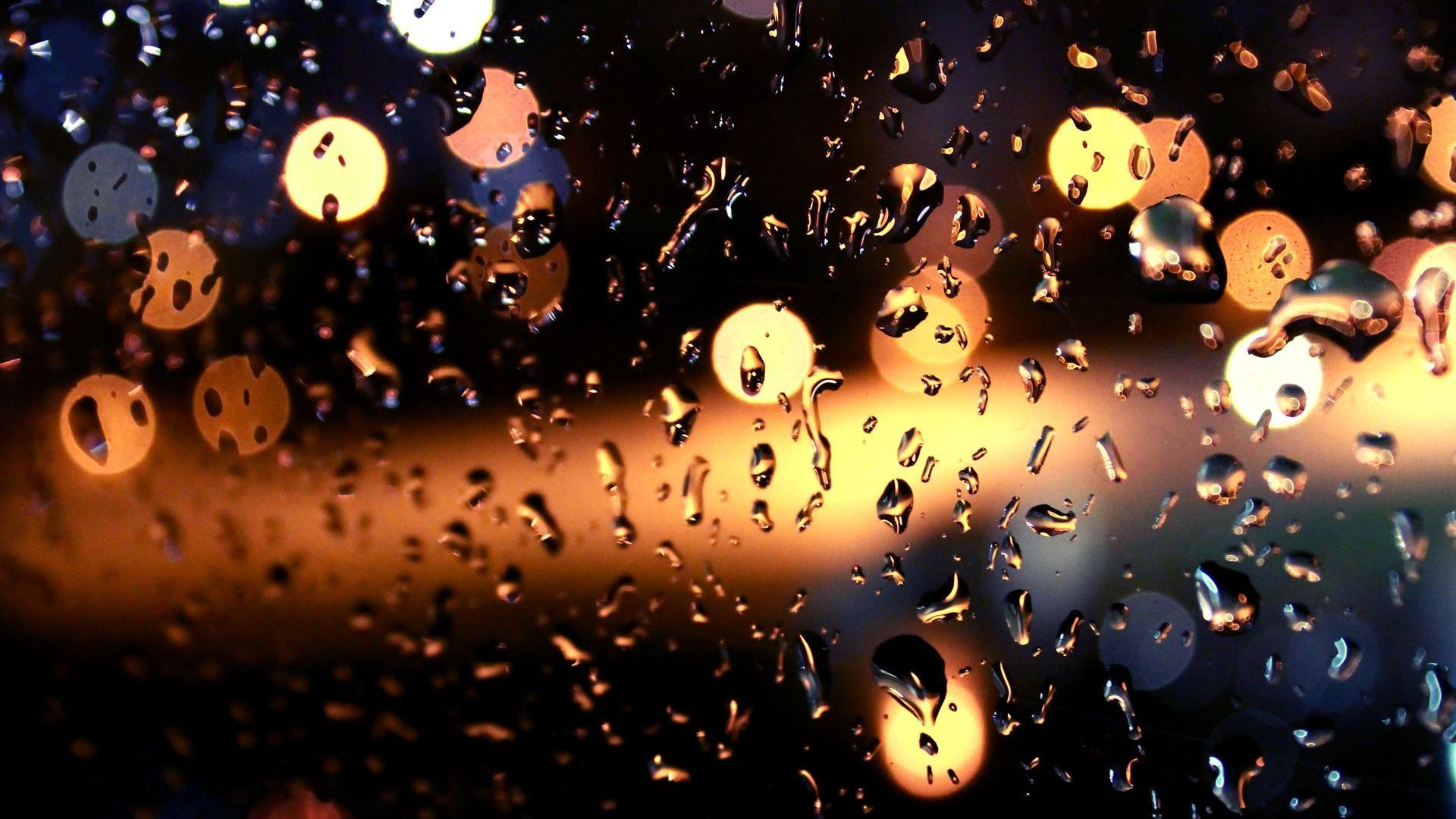 1920x1080 Rain Window Wallpaper
